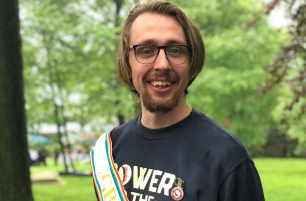 K.C. Harkins, 25, of St. George, was grand marshal of the 2018 Staten Island Pridefest.