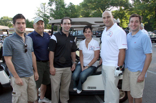 FLASHBACK: At the 2010 Patricia Del Ray Memorial Golf Outing to benefit the American Cancer Society: Jason Del Rey, Bernard Del Rey, Cory Schifter, Tricia and Joe Covello and Bernard N. Del Rey.