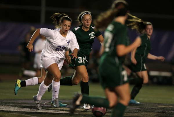 Action from the Tottenville and New Dorp girl's soccer Game of the Week, held at Tottenville HS. September 14, 2017. Staten Island Advance/Derek Alvez). Staff-Shot