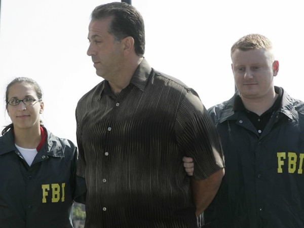Alex Conigliaro, seen in this 2005 photo, a reputed member of the Genovese organized crime family, has been sentenced to four months in jail, four months of home confinement and fined $5,000 for conducting an illegal gambling business. (AP Photo/Mike Derer)