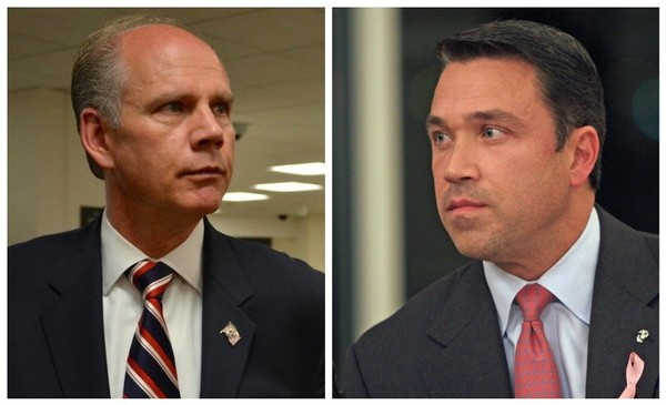 Rep. Daniel Donovan and Michael Grimm have been ramping up the attacks against each other as the GOP primary election is only two months away. (Staten Island Advance/ Staff Shots)