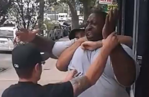 A still from a YouTube video shows Eric Garner being taken to the ground by Police Officer Daniel Pantaleo. (File)