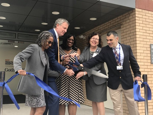 """During the opening of the Vanderbilt clinic, located at 165 Vanderbilt Ave., First Lady Chirlane McCray said the program """"will save lives."""""""