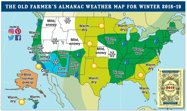 Old Farmer S Almanac 2019 Winter Weather Forecast For Nyc Silive Com