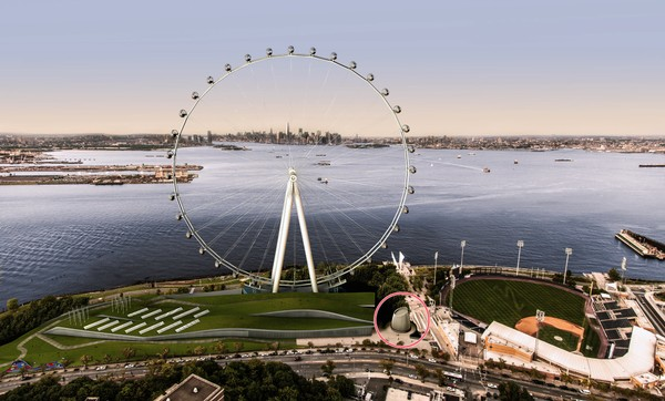 If the New York Wheel is willing to put forth a plan that does not involve tax-free financing from the city, Mayor Bill de Blasio said he is willing to consider hearing developers out again.