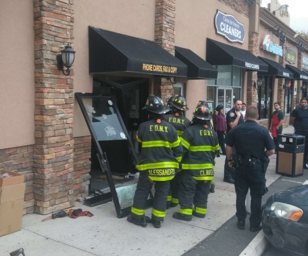 One person was taken to the hospital after a car crashed into a store in Graniteville. (Courtesy: Anthony Spennato)