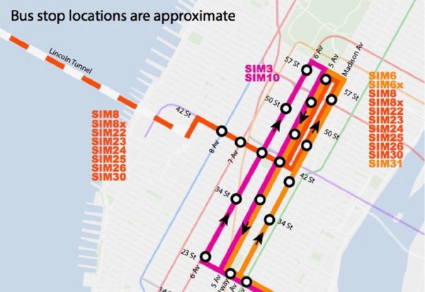 Many commuters have complained about the consolidation of express bus return trips on Fifth Avenue. (Courtesy of MTA)
