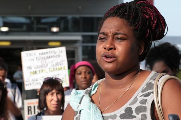 Erica Garner at a rally in 2016. (Staten Island Advance/ Bill Lyons)