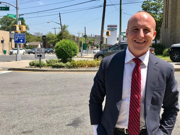 Max Rose, a combat veteran and Purple Heart recipient, received the Staten Island Democratic County Committee's endorsement on Tuesday at the Excelsior Grand. (Staten Island Advance/ staff shot)