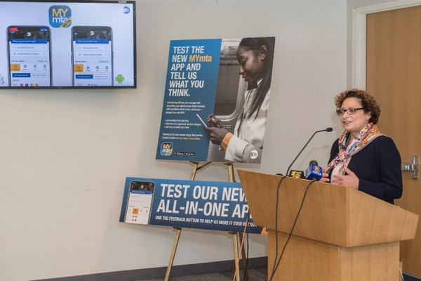 The MTA has launched a test version of their new comprehensive mobile app, MYmta. (Patrick Cashin/Metropolitan Transportation Authority)