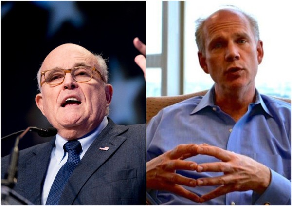 Former Mayor Rudy Giuliani endorsed Rep. Daniel Donovan for reelection ahead of June's Republican primary.