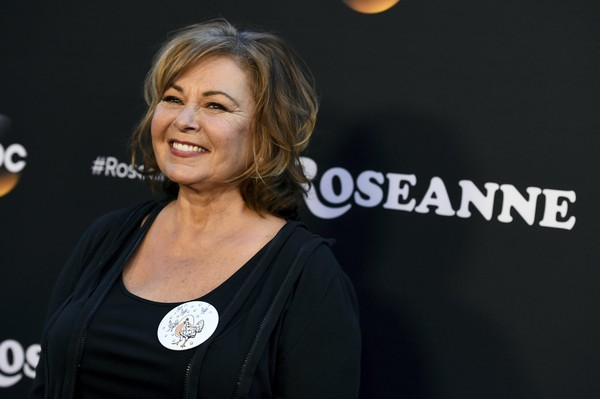 """FILE - In this March 23, 2018, file photo, Roseanne Barr arrives at the Los Angeles premiere of """"Roseanne"""" on Friday in Burbank, Calif. (Photo by Jordan Strauss/Invision/Associated Press)"""
