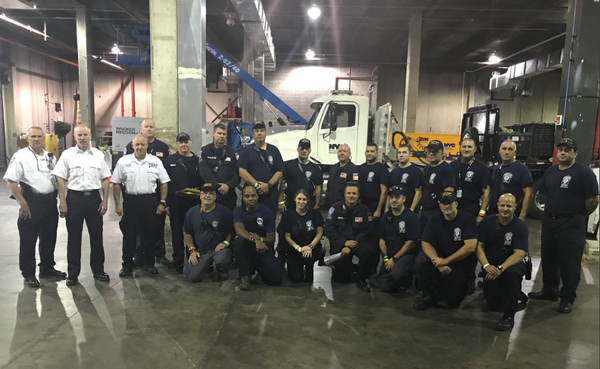 About 100 members of the NYPD, FDNY and city's Office of Emergency Management have headed for the Carolinas, with rescue gear in tow. (Twitter)