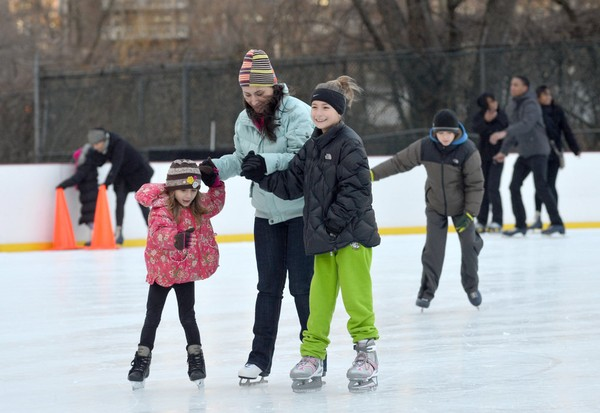 In this 2012 file photo, kids skate at WWII Veterans War Memorial Ice Skating Rink in Clove Lakes Park. The rink may not open for the season as it faces issues with its ice making system.(Staten Island Advance/ Bill Lyons)