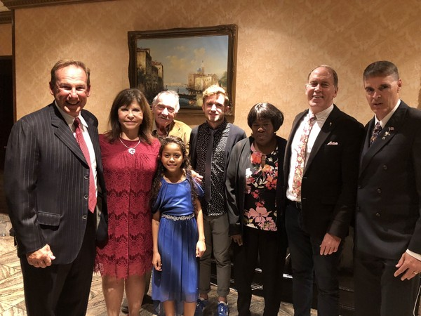 Gather at Thursday night's Triple Crown dinner, from left, are Dr. Mark Sherman, Lorraine Lettieri, Bill Welsh, Sahara Victoria, Jeremy Mulvey, Dorothy Clinton, Bill Allert and Jeff Benjamin.