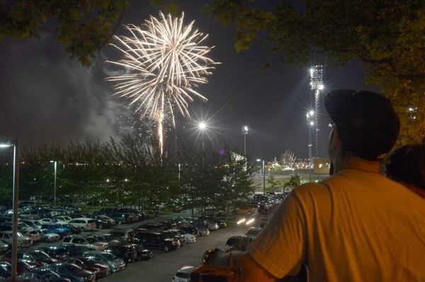 57f025be6443b Fireworks are shot off at the Staten Island Yankees game at Richmond County  Bank Ballpark Thursday