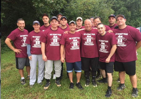 """Participants pose during the Port Authority Police Department's """"38 Heroes Softball Tournament."""" (Photo courtesy of the PAPD)"""