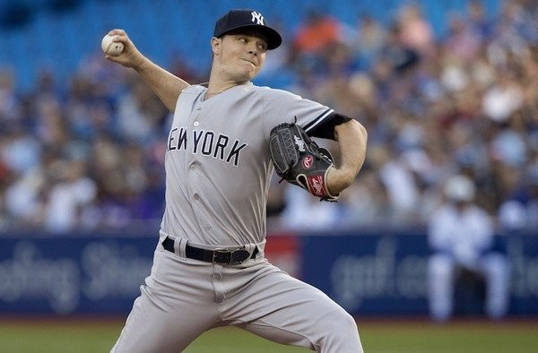 Struggling Yankees right-hander Sonny Gray was roughed up again Friday night after pulled by the Toronto Blue Jays and lifted after just two innings. (Fred Thornhill   The Canadian Press via AP)