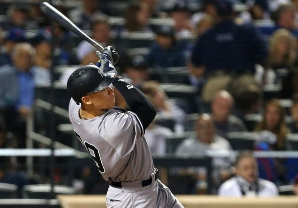 Aaron Judge returned to the outfield Friday night but did not bat.