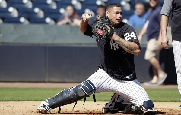 What's wrong with Yankee catcher Gary Sanchez?