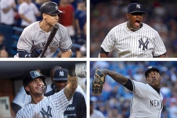 Who from the Yankees made the MLB All-Star team?
