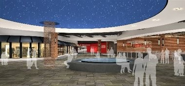 Another look at the upcoming Outlets at Turning Stone high-end retail center.