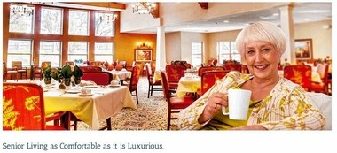 """Resort Lifestyle Communities's website describes walking into its luxurious retirement communities as like """"stepping onto a 5-star cruise ship."""""""