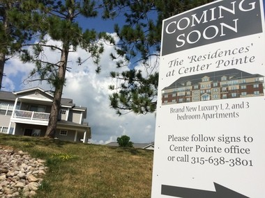 B&F Development is building 208 more apartments at Center Pointe Apartments in Lysander's Radisson community. The Onondaga County Industrial Development Agency has approved $5 million in tax exemptions for the project.
