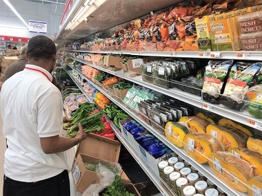 Workers stock shelves at the Price Rite store at 611 South Ave. in Syracuse on Friday, March 31, 2017. The store is scheduled to open Sunday, April 2, 2017.