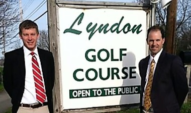 Phil Kless, left, and Andy Myers, right, operators of the Lyndon Golf Course in Fayetteville, recently bought the Marcellus Golf Club in Marcellus at a foreclosure auction.