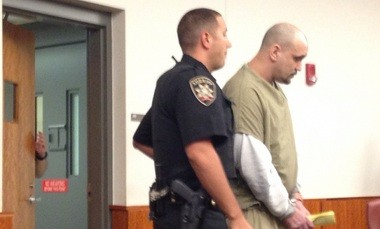 Leonard Glowacki ushered into court for sentencing.