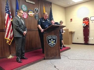Oneida County Sheriff Robert Maciol announces the arrest of Kaitlyn Conley, 23, Oneida Street, Sauquoit on Tuesday, June 14, 2016.