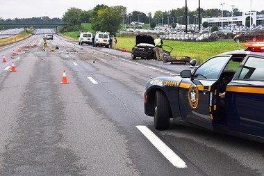 State police investigate a fatal crash Monday morning on I-81 South in Cicero.
