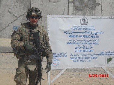 David Hammond in Afghanistan in this 2011 photo.