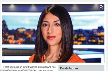 NewsChannel 9 reporter Farah Jadran on the TV channel's website.