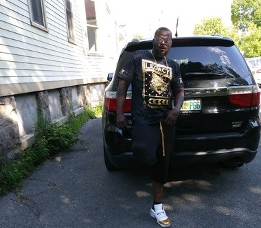 James Mike poses for a photo hours before he was shot and killed on Sunday, July 29, 2018 in Syracuse. His sister, Quantia Whitehead, said it was the last photo taken of her brother.
