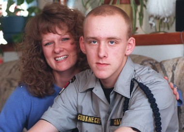 Nancy Chappell and her son Stephen Gudknecht posed in this photo in December 1997 at their home in Camillus.