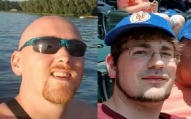 Police say Stephen Gudknecht, left, and Kristopher Hicks, right, were shot to death during a robbery early Saturday, Sept. 15, 2018, at Chili's in DeWitt.