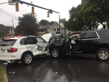 The U.S. Marshals Service said Deshawnte Waller ran from the black SUV after a crash near Croly Street and East Genesee Street on Oct. 2, 2018.