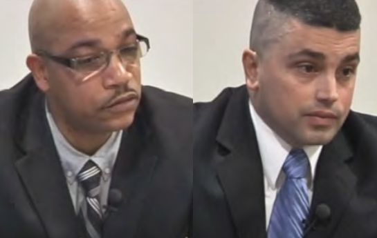 A jury found that officers Damon Lockett (left) and Paul Montalto (right) used excessive force and falsely arrested Alonzo Grant in 2014.