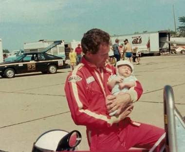 Even when he was too young to know what was going on, infant Mike McKenna hung around the race track with his father, Terry, a driver.