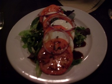 Caprese salad at Daniella's Steakhouse, 670 State Fair Blvd, Syracuse, NY
