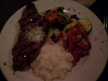 NY Strip Steak at Daniella'ss Steakhouse, 670 State Fair Blvd, Syracuse, NY