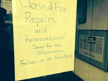 This sign is on the door at Danzer's Restaurant on Ainsley Drive. The restaurant will reopen Friday, Nov.28