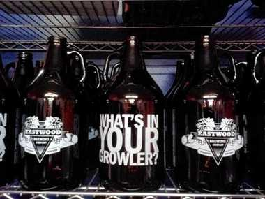 Growlers from Eastwood Brewing Co.