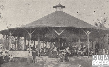 A carousel was among the attractions at Maple Bay, later Lakeside Park, on the western shore of Onondaga Lake.