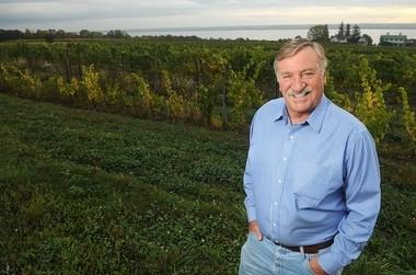 Jim Trezise, president of the New York State Wine & Grape Foundation, at Fox Run Vineyards south of Geneva.