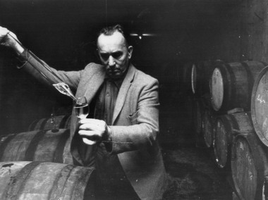 Dr. Konstantin Frank in the cellar of his winery on Keuka Lake.