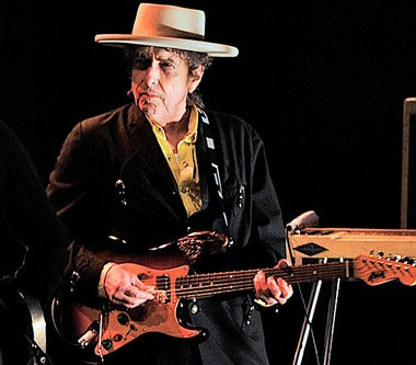 American folk icon Bob Dylan performs with his band in Beijing, China Wednesday April 6, 2011.