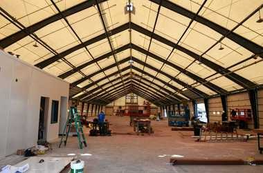 The new 80-foot by 270-foot F shed at the Central New York Regional Market will house about 75 vendors. That's 25 more stalls than there were in the tents at that location in recent years.